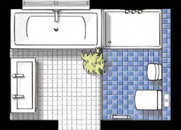 Badplanung und badgestaltung hamburg ellerbrock bad for Grundrisse badgestaltung