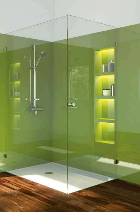Fliesenloses Bad , Bad ohne Fliesen, Duschpaneel, Duschrückwand